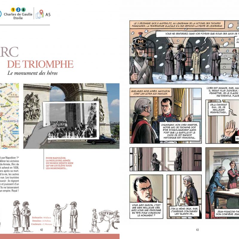 Arc de Triomphe, Guide de Paris en BD, Éditions Petit a Petit